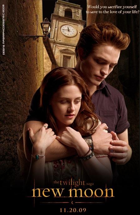 Edward Cullen (Robert Pattinson) and Bella Swan (Kristen Stewart)