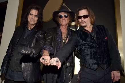 Alice Cooper, Joe Perry, Johnny Depp